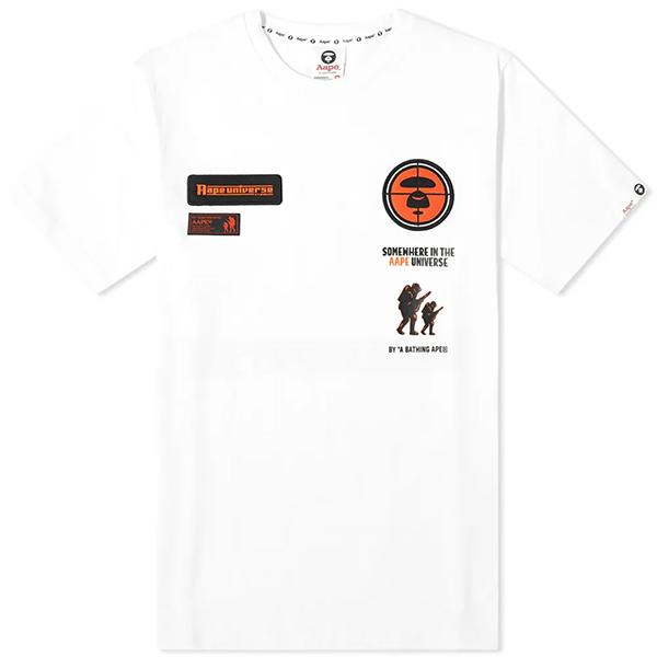 AAPE ハンティング Tシャツ エイプ 半袖 メンズ コットン トップス メンズ フェス トレンド インポート 大きいサイズあり 流行 最新 メンズカジュアル