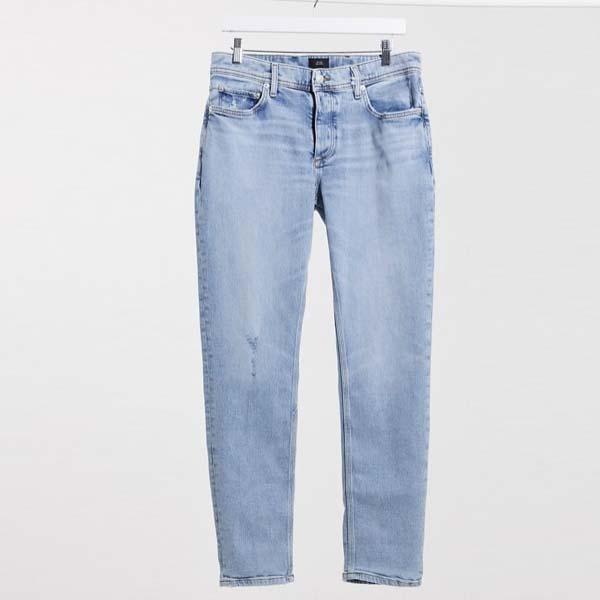 リバーアイランド スリム ジーンズ(ライトウォッシュブルー) メンズ 男性 小さいサイズから大きいサイズまで 20代 30代 40代 ファッション コーディネート