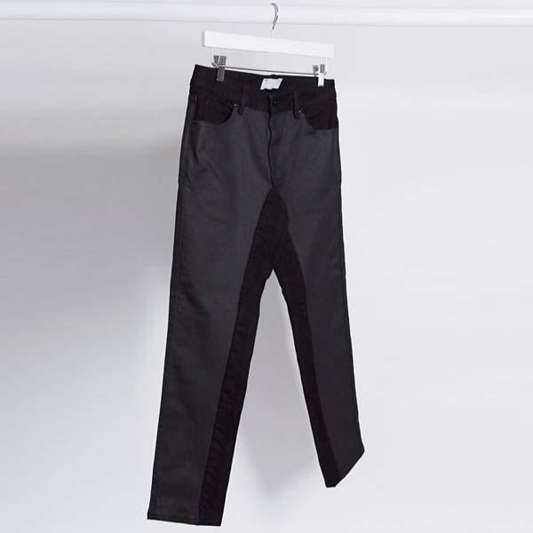 ASOS EDITION カットソー レザー ルック ジーンズ メンズ 男性 小さいサイズから大きいサイズまで 20代 30代 40代 ファッション コーディネート