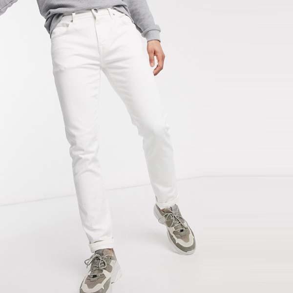 Selected Homme オム スリム フィット ジーンズ ホワイト メンズ 男性 小さいサイズから大きいサイズまで 20代 30代 40代 ファッション コーディネート