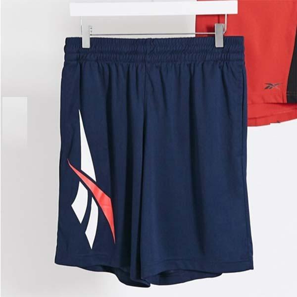 リーボック クラシック ショーツ ネイビー ベクター プリント メンズ 男性 小さいサイズから大きいサイズまで 20代 30代 40代 ファッション コーディネート