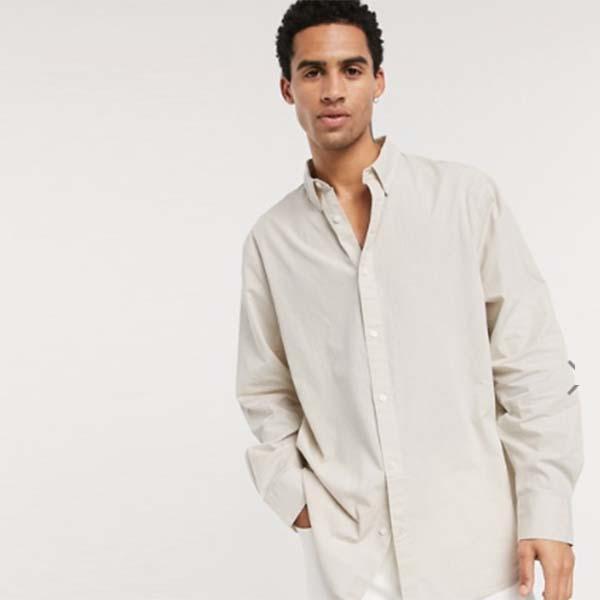 Karim Gingham シャツ(ベージュ)Weekday トップス メンズ 男性 小さいサイズから大きいサイズまで 20代 30代 40代 ファッション コーディネート