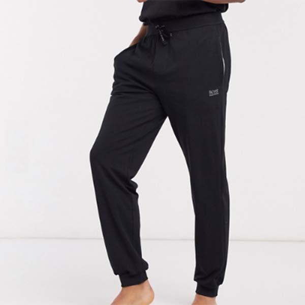 BOSS ボディ ウェア ロゴ カフ付き ジョガー ブラック ボトム パンツメンズ 男性 小さいサイズから大きいサイズまで 20代 30代 40代 ファッション コーディネート