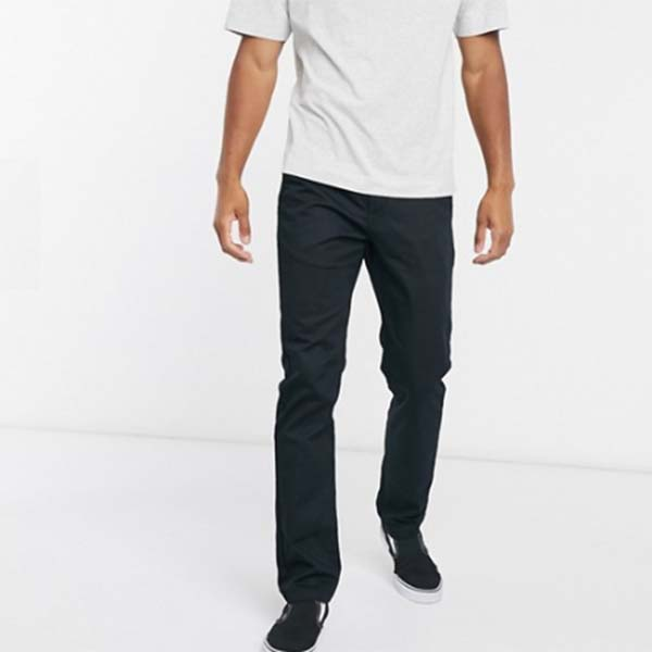 Vans バンズ オーセンティック ストレッチ チノ ブラック ボトム メンズ 男性 小さいサイズから大きいサイズまで 20代 30代 40代 ファッション コーディネート