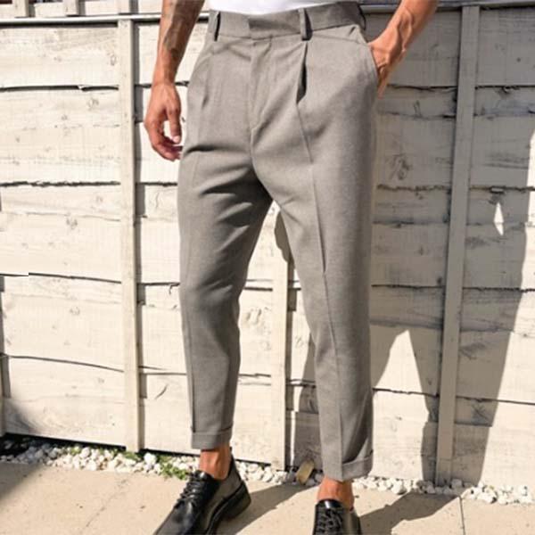 ASOS DESIGN テーパード スマートパンツ テクスチャード キャメル ダブル プリーツ付き ボトム メンズ 男性 小さいサイズから大きいサイズまで 20代 30代 40代 ファッション コーディネート