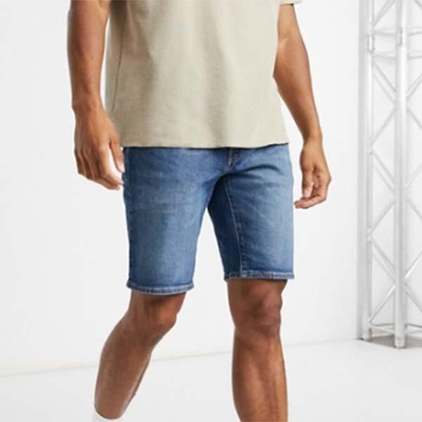 Levi's 502 テーパード ショーツ(パネットーネミッドウォッシュ) ボトム メンズ 男性 小さいサイズから大きいサイズまで 20代 30代 40代 ファッション コーディネート