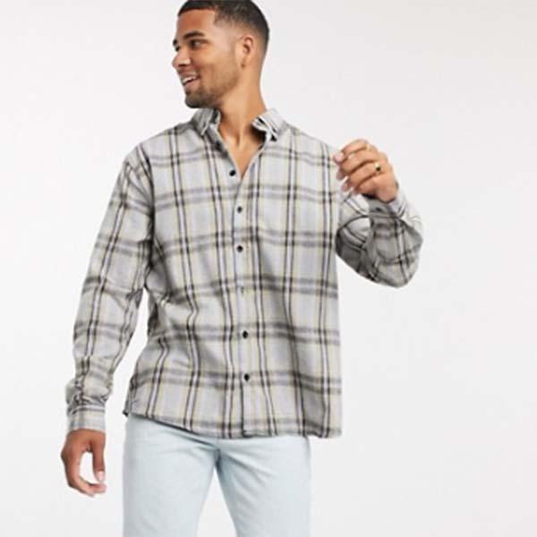 マルチプリント Good For Nothing チェック シャツ メンズ 男性 小さいサイズから大きいサイズまで 20代 30代 40代 ファッション コーディネート