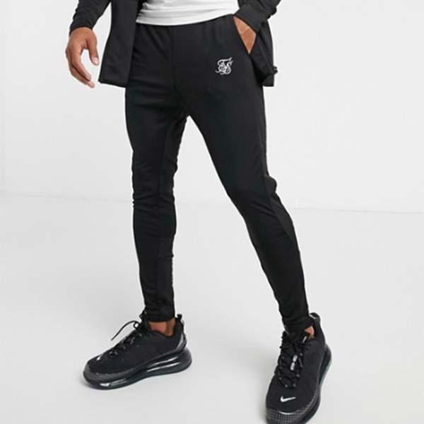Siksilk ジョガー ブラック パンツ メンズ 男性 小さいサイズから大きいサイズまで 20代 30代 40代 ファッション コーディネート