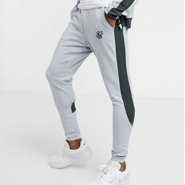 Siksilk アスリート アイレット テープ ジョガー グレー パンツ メンズ 男性 小さいサイズから大きいサイズまで 20代 30代 40代 ファッション コーディネート