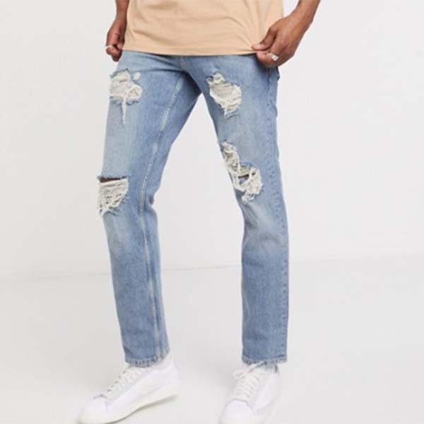 ASOS DESIGN ストレッチ スリム ジーンズ パンツ メンズ 男性 小さいサイズから大きいサイズまで 20代 30代 40代 ファッション コーディネート