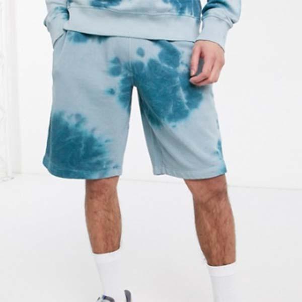 Russell Athletic Adam タイダイ ショーツ ブルー メンズ 男性 小さいサイズから大きいサイズまで 20代 30代 40代 ファッション コーディネート