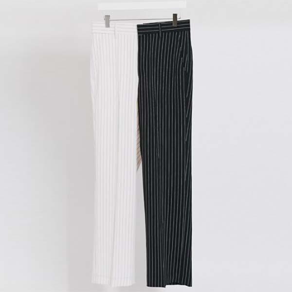 Jaded London 黒 白 ピンストライプ スーツパンツ(ブラック&ホワイト)  パンツ ボトム メンズ 男性 小さいサイズから大きいサイズまで 20代 30代 40代 ファッション コーディネート