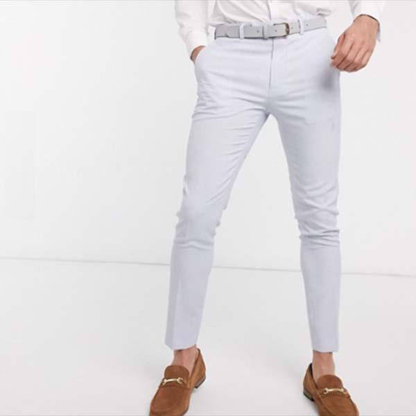 ASOS DESIGN ウェディング ライラック クロス ハッチ スーパー スキニー スーツ パンツ ズボン パンツ ボトム メンズ 男性 小さいサイズから大きいサイズまで 20代 30代 40代 ファッション コーディネート