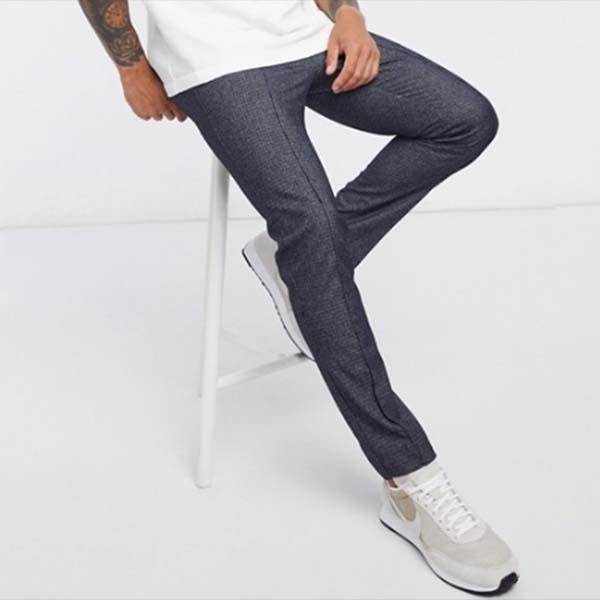 ネイビー リバーアイランド スマート ジョガー パンツ ズボン パンツ ボトム メンズ 男性 小さいサイズから大きいサイズまで 20代 30代 40代 ファッション コーディネート