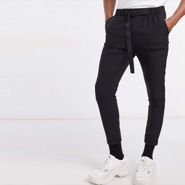 Sixth June 黒 バックル付き ズボン パンツ メンズ 男性 小さいサイズから大きいサイズまで 20代 30代 40代 ファッション コーディネート