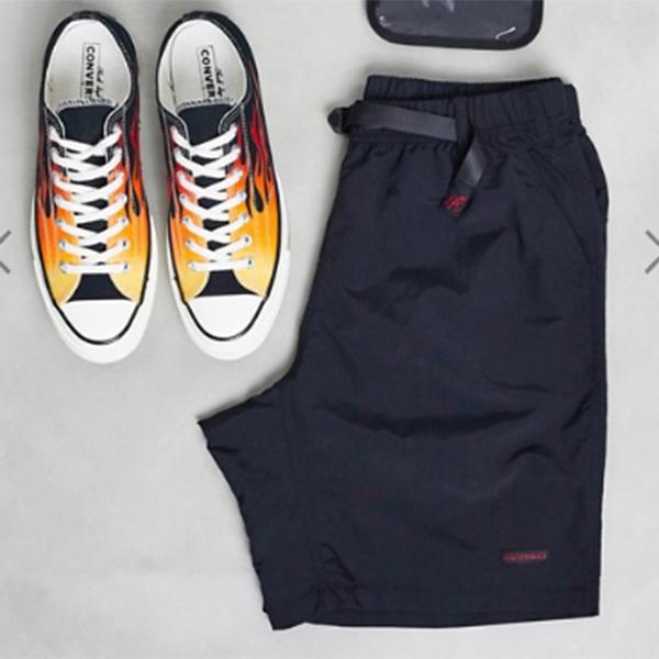 Gramicci NN 黒 ショート パンツ メンズ インポートブランド 旅行 小さいサイズから大きいサイズまで 30代 40代 20代 高身長 春夏秋冬