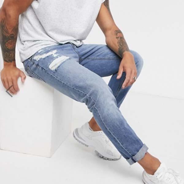 ASOS DESIGN スリム ウォッシュ加工 スリム ジーンズ パンツ ボトム メンズ 男性 小さいサイズから大きいサイズまで 20代 30代 40代 ファッション コーディネート