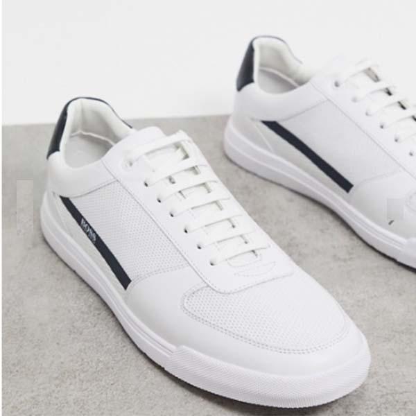 BOSS Cosmopool Tenn ゴム ロゴ トレーナー ホワイト メンズ 男性 小さいサイズから大きいサイズまで 20代 30代 40代 ファッション コーディネート