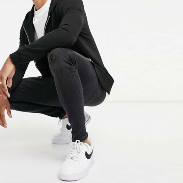 ウォッシュドブラック ジーンズ リバーアイランド スプレー パンツ ボトム メンズ 男性 20代 30代 40代 ファッション コーディネート