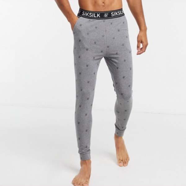 SikSilk ラウンジ パンツ(グレー) パンツ ボトム メンズ 男性 20代 30代 40代 ファッション コーディネート