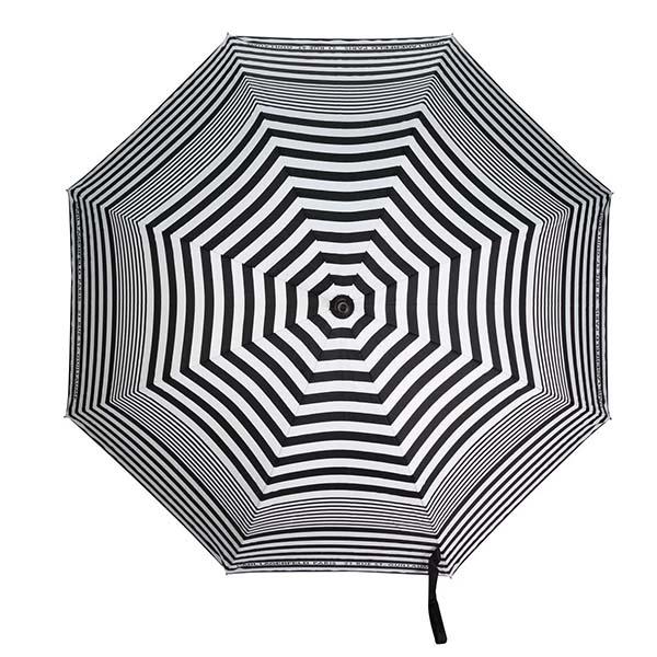 京都のセレクトショップdivacloset カール 特価 初回限定 ラガーフェルド Karl Lagerfeld Essential ストライプ 傘 持ち運び 折りたたみ傘 お洒落 インポートブランド メンズプレゼント 雨の日 流行 トレンド レディース 最新 インポート 雨傘 女性
