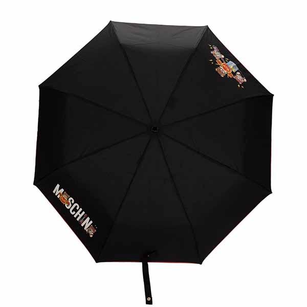 京都のセレクトショップdivacloset テディー ベア モスキーノ Moschino ロゴ 折り畳み 傘 梅雨時期 雨天 umbrella ハイブランド 30代 40代 インポート プレゼント 男性 ユニセックス 予約 レディース ブランド ファッション 女性 メンズ 訳あり商品 20代