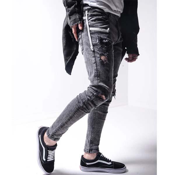 Gentleman To Be(ジェントルマントゥービー)ダメージデニム スキニーデニム 20代30代40代 日本未入荷 大きいサイズあり 流行 最新 メンズカジュアル edm フェス ファッション