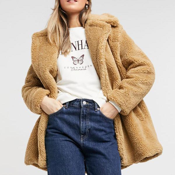 キャメルのSNDYSフォクシーコート アウター レディース 女性 インポートブランド 小さいサイズから大きいサイズまで