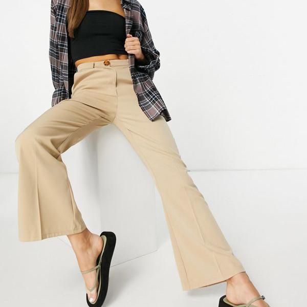 京都のセレクトショップdivacloset ファッションユニオン Fashion Union ファッションユニオンハイウエストキックフレアテーラードパンツコーディネイト 期間限定で特別価格 パンツ 小さいサイズから大きいサイズまで インポートブランド レディース レビューを書けば送料当店負担 女性 ボトム