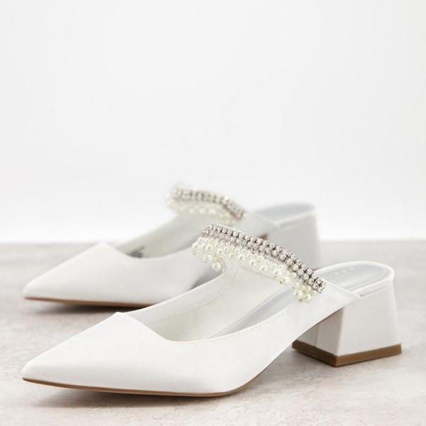 <title>京都のセレクトショップdivacloset エイソス ASOS asos ASOSDESIGNワイドフィットウェブスターがアイボリーでヒールミュールを装飾 靴 再入荷/予約販売! レディース 女性 インポートブランド 小さいサイズから大きいサイズまで</title>