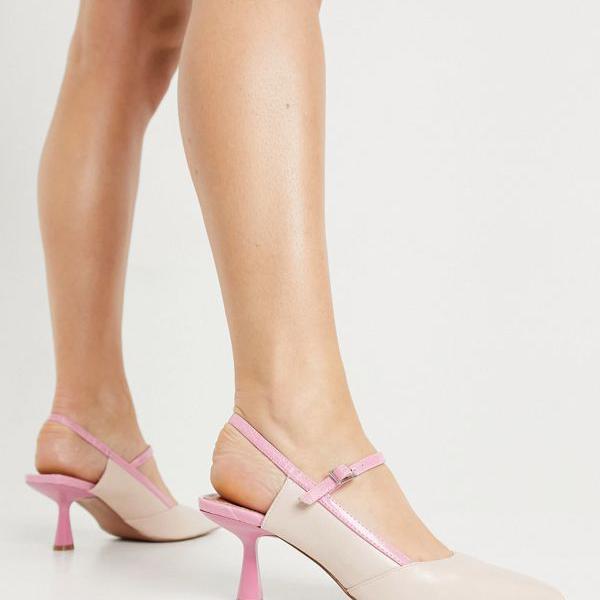 京都のセレクトショップdivacloset エイソス ASOS asos 新着セール ASOSDESIGNサファイアはピンクのメアリージェーンミッドヒールを指摘しました レディース 特価品コーナー☆ 小さいサイズから大きいサイズまで 靴 女性 インポートブランド