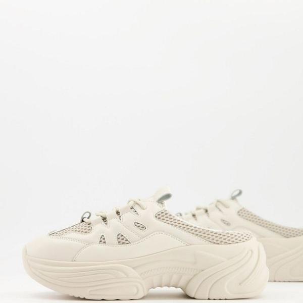 京都のセレクトショップdivacloset エイソス ASOS asos DESIGNDavaチャンキーミュールトレーナーのトープ 小さいサイズから大きいサイズまで 新商品!新型 本店 女性 インポートブランド 靴 レディース