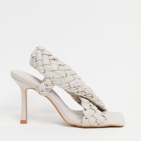 京都のセレクトショップdivacloset エイソス ASOS asos ASOSDESIGNノック織りクロスストラップヒールサンダルオフホワイト インポートブランド 人気の製品 タイムセール 小さいサイズから大きいサイズまで 靴 女性 レディース