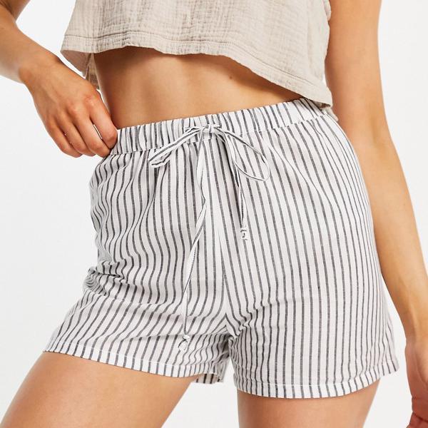 Esmeeエクスクルーシブビーチショートコーディネイトストライプ パンツ ボトム  レディース 女性 インポートブランド 小さいサイズから大きいサイズまで