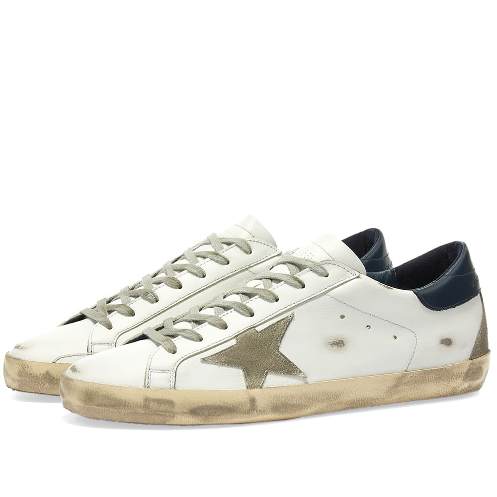 SALE開催中 京都のセレクトショップdivacloset インポートブランド ゴールデングース Golden Goose 小さいサイズから大きいサイズまで ゴールデングーススーパースターレザースニーカー 男性 靴 値下げ メンズ