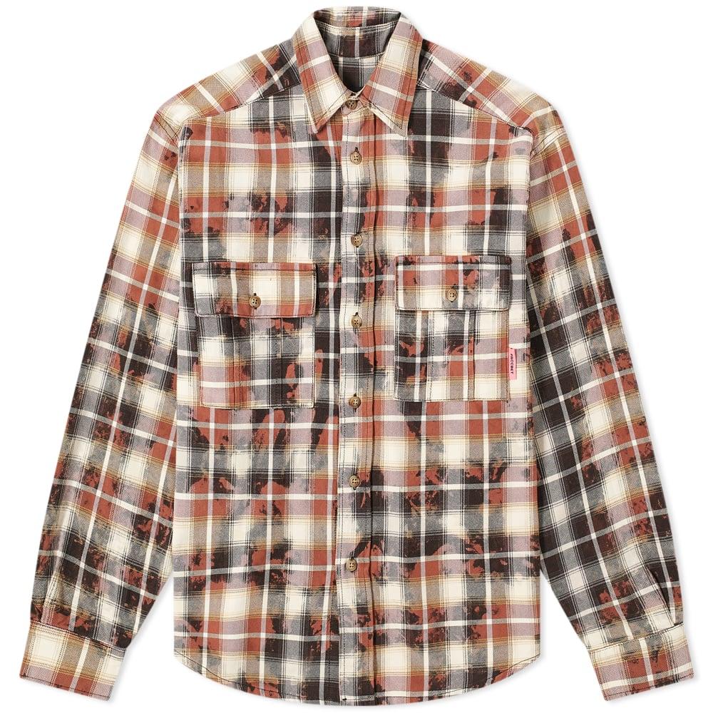 京都のセレクトショップdivacloset インポートブランド ラスベート PACCBET PACCBETブリーチチェックシャツ メンズ 正規販売店 買収 小さいサイズから大きいサイズまで 男性 トップス