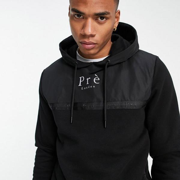 男性 トップス 黒のプレロンドンベルバーパーカー メンズ 小さいサイズから大きいサイズまで インポートブランド