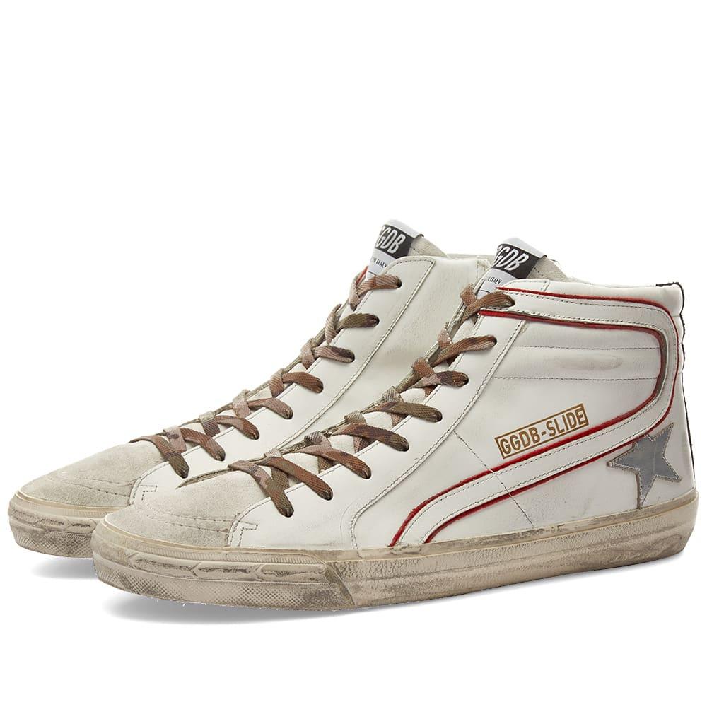 最新コレックション ゴールデングース Golden メンズ Goose 靴 ゴールデングーススライドレザー&スエードハイスニーカー 靴 メンズ 男性 男性 インポートブランド 小さいサイズから大きいサイズまで, journal standard Furniture:1d94bde7 --- ironaddicts.in