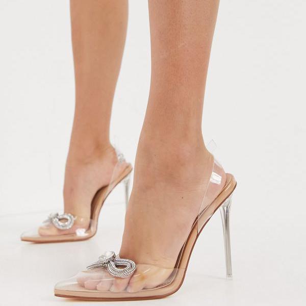 京都のセレクトショップdivacloset Simmi 卸売り London Wide FitKarolineヒールシューズベージュのディアマンテボウ付き インポートブランド 女性 レディース 小さいサイズから大きいサイズまで 新作からSALEアイテム等お得な商品 満載 靴