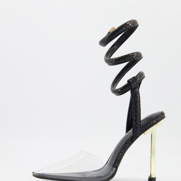 <title>京都のセレクトショップdivacloset シミ SIMMI Simmi London ◆在庫限り◆ シミロンドンティオナヒールシューズ スパイラルストラップブラック 靴 レディース 女性 インポートブランド 小さいサイズから大きいサイズまで</title>