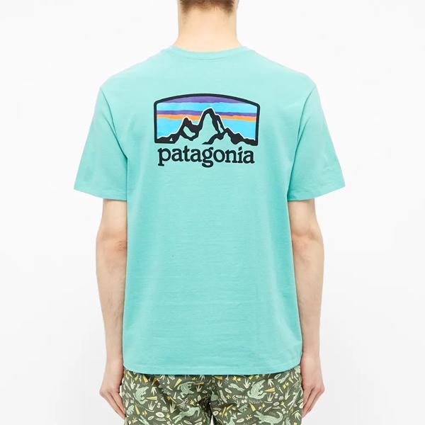PATAGONIA パタゴニア フィッツロイホライゾンズ ライトベリルグリーン Tシャツ Tshirt メンズ インポートブランド