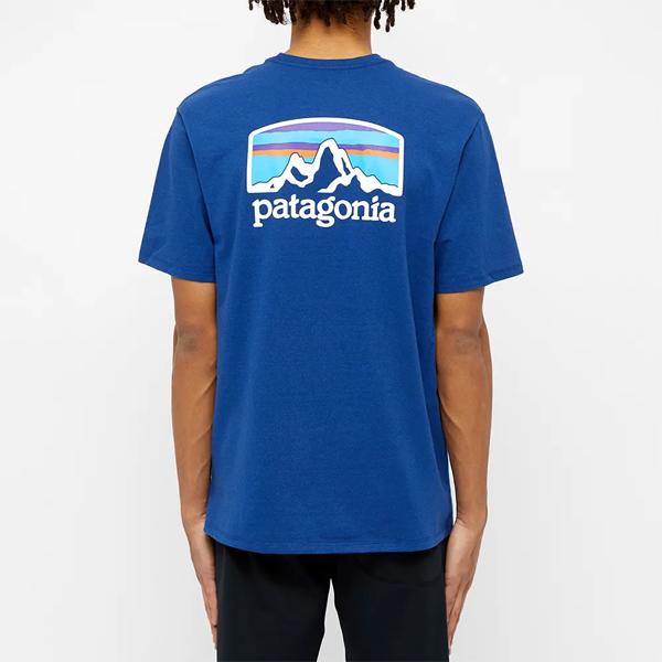 PATAGONIA パタゴニア フィッツロイホライゾンズ スーペリアブルー Tシャツ Tshirt メンズ インポートブランド