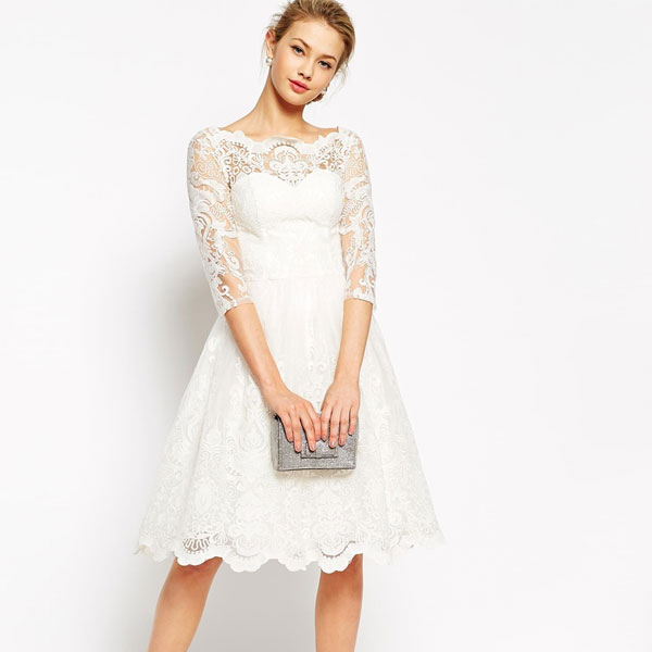 107cee71a5 Chi Chi London ASOS   sleeves   7-sleeves and lace   embroidery   bald neck    medium   dress   white   freadressmedium   large size and small size ...