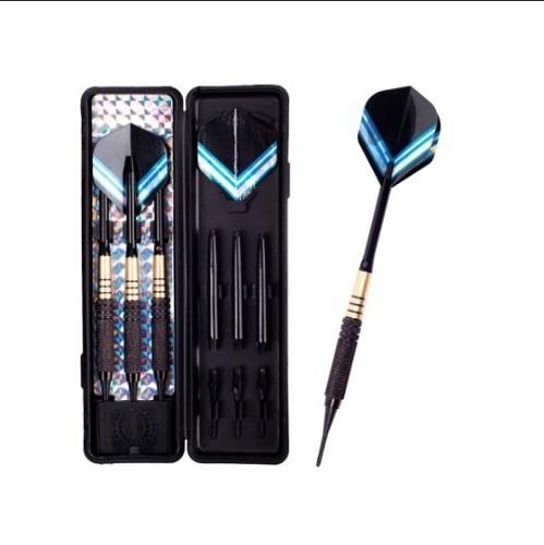 全国送料無料 爆買いセール ブルーラインがカッコいい アイテム勢ぞろい ダーツ Arrow バレル 矢3本 ソフトダーツ 替えシャフト+チップ+バレル ケース+フライト付き ダーツセット