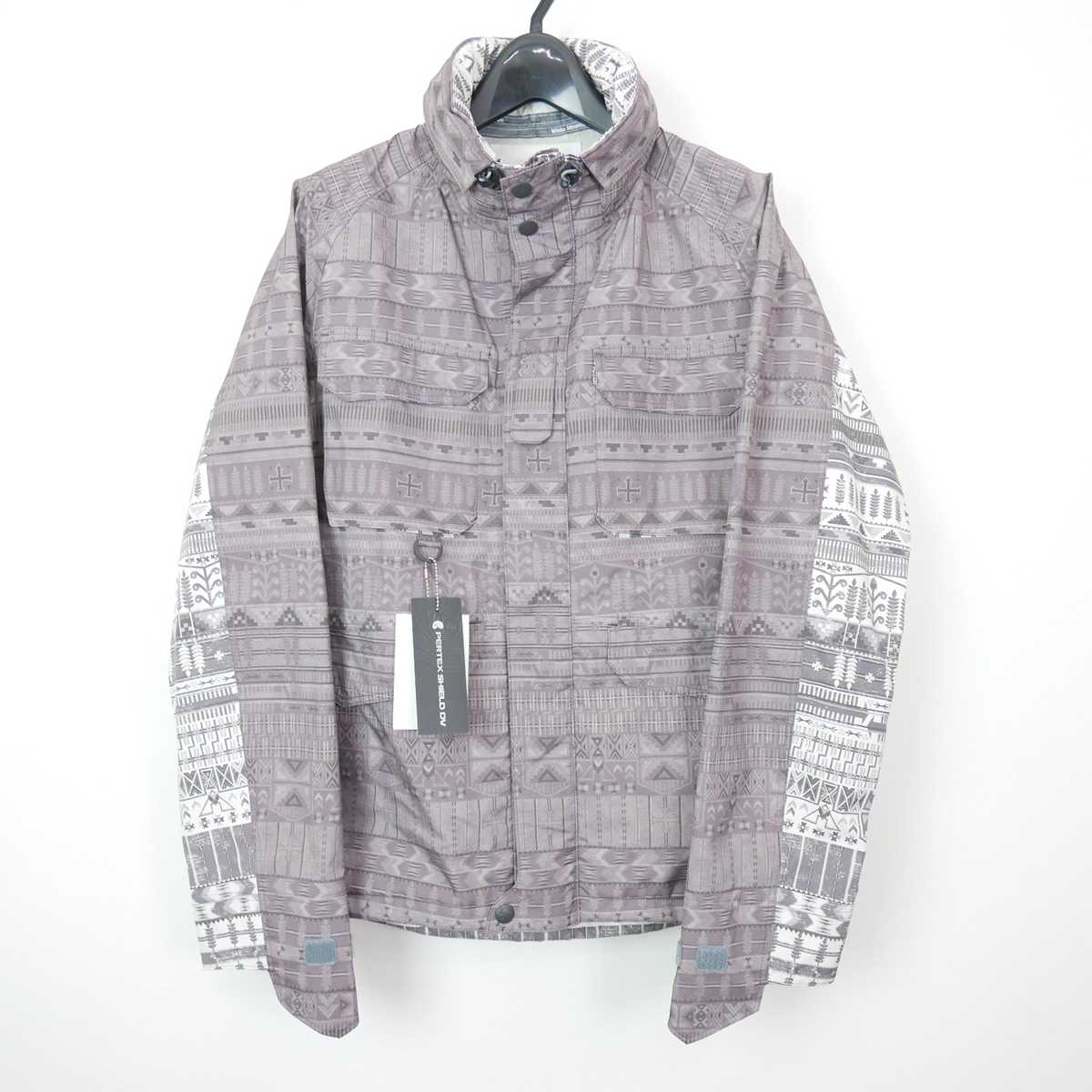 11AW 11FW White Mountaineering ホワイトマウンテニアリング PERTEX ETHNIC PATTERNED JACKET ネイティブ柄 マウンテンパーカー ジャケット ブルゾン CHARCOAL 1 【中古】 DN-11303