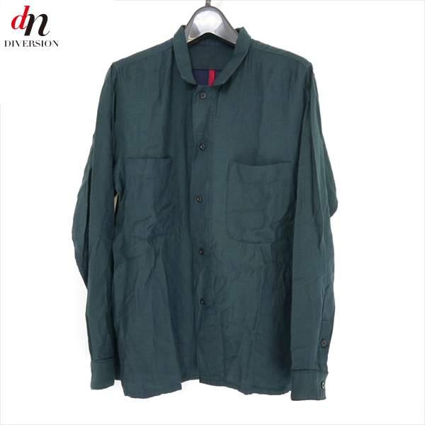 16AW 16FW YANTOR ヤントル シャンブレー長袖レギュラーカラーシャツ GREEN M 【中古】 DN-5525