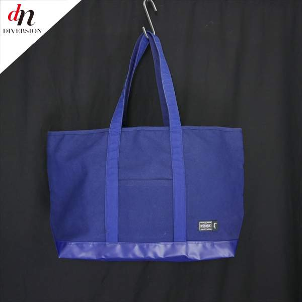 PORTER STUSSY ポーター ステューシー BEACH PACK TOTE BAG キャンバス トートバッグ NAVY 【中古】 DN-5575