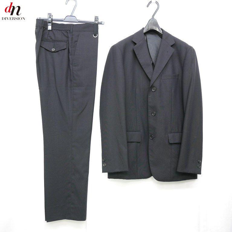 SOPHNET. ソフネット SOPH ソフ ウール 3B ジャケット パンツ スーツ セットアップ BLACK S 【中古】 DNS-0241