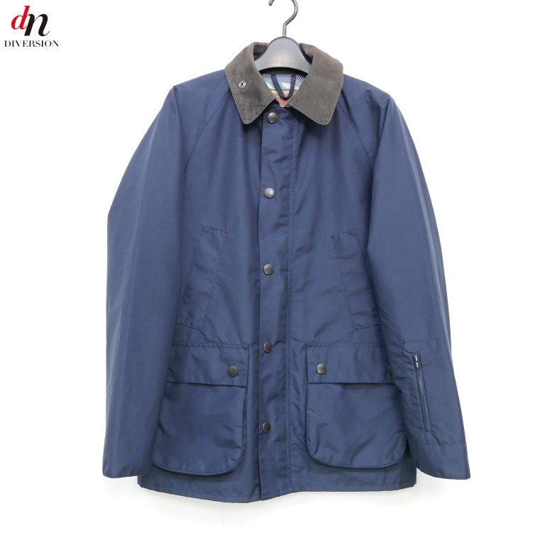 SOPHNET. ソフネット Barbour BEDALE バブアー ブルゾン ジャケット NAVY S 【中古】 DNS-2115