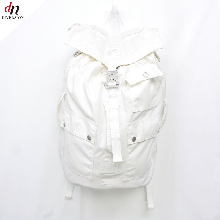 PORTER VAINAL ARCHIVE ポーター ヴァイナルアーカイブ DUFFLE PACK バックパック リュック WHITE 【中古】 DNS-3107